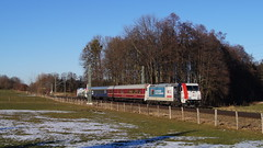 193 773 + 185 665 / Lokomotion - Vogl (lukasrothmann) Tags: bayern oberbayern heimat vogl traxx train 185 lokomotion sonderzug sonderfahrt lok lokomotive