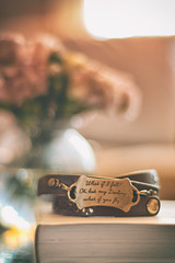 But What If You Fly? (flashfix) Tags: february182019 2019inphotos easternontario ottawa ontario canada nikond7100 50mm stilllife flowers bracelet book soft indoor brown bokeh macro 2minutemacro naturallight charm