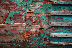 False Flag Study .3 (dylanawol66) Tags: texture falseflag wood paint peeling nails pattern decay industrial