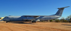 USAF Lockheed C-141B Starlifter military transport, 1967 - Pima Air & Space Museum, Tucson, Arizona (edk7) Tags: nikond3200 edk7 2013 usa arizona tucson arizonaaerospacefoundation pimaairspacemuseum unitedstatesairforce usaf airmobilitycommand amc lockheedcorp lockheedc141bstarlifter military strategic transport sn670013 1967 aviation plane airplane aircraft jet fourengine prattwhitneytf33p7turbofan21000lbf service19652006