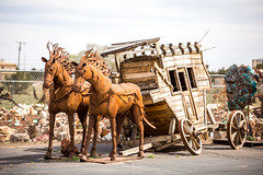 The Holdup (Thomas Hawk) Tags: america arizona rocksandmore usa unitedstates unitedstatesofamerica williams horse sculpture stagecoach fav10