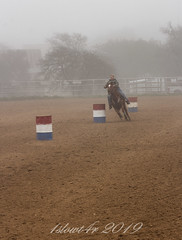 Playday - 23 (1slowt4r) Tags: cowgirls cowgirl barrelracing animal texas rodeo outside people spring horse fog texashillcountry hillcountry