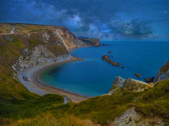 go where your dreams take you (Wizard CG) Tags: lulworth cove dorset jurassic limestone purbeck beach sand fossils water landscape coast sky sea travel blue sun clouds ocean waves rocks summer uk england seascape river lake olympus epl7