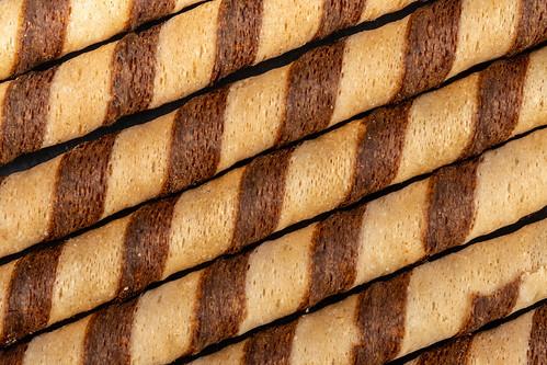 Background of Chocolate Sticks closeup