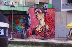 52 Paris décembre 2018 - au bout du Bassin de La Villette (paspog) Tags: paris france bassindelavillette streetart graffitis tags mural murals fresque fresques décembre december dezember 2018