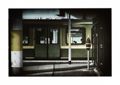 heading into town (béalbocht) Tags: people street trainstation dart donaghmededublinireland