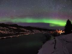 "29.03.19 ""WOW moment"" (Dagnystef) Tags: iceland march aurora lake reflexion tree snow stars night"