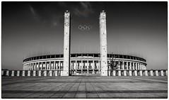 Olympiastadion - Berlin (Andy J Newman) Tags: 1936 monochrome berlin blackandwhite germany hitler nazi olympiastadion olympic olympicstadium olympus omom10 silverefex