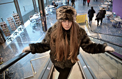 Pixeleen,   From Russia with Liv' (plot19) Tags: liv love light salford quays quay manchester model nikon north northern northwest now england english family fashion fasion face plot19 photography portrait people pose uk urban teenager olivia britain british fur hat up