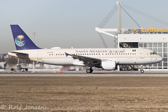 HZ-ASC Airbus A320 Saudi Arabian Airlines Munich airport EDDM 18.02.19 (rjonsen) Tags: plane airplane aircraft aviation airliner airside runway takeoffroll luthansa