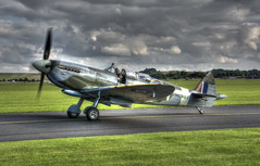 Grace Spitfire ML407 (nigdawphotography) Tags: spitfire supermarine supermarinespitfire plane airplane aeroplane fighter ww2 duxford cambridgeshire