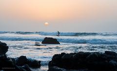 Sundown La Pared (toniertl) Tags: lapared canaryisland fuerteventura sundown toniphotoxoncouk wintersunshine surfing rocky shore wave sunset orange blue misty rugged harsh evening