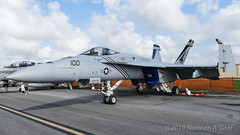 """Boeing F/A-18E Super Hornet of Strike Fighter Squadron 143 (VFA-143) """"Pukin Dogs"""" from NAS Oceana (Norman Graf) Tags: boeing fa18e 168908 aircraft airplane cagbird usn 2017nasoceanaairshow airshow vfa143 navalaviation fa18 pukindogs ag100 attack carrierairgroup f18 f18e fighter hornet jet nasoceana plane strikefightersquadron143 superhornet unitedstatesnavy"""