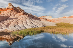 red rocks and blue sky (funtor) Tags: stone lines landscape usa southwest arizona art reflection water red blue