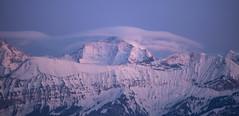 Abendstimmung (Aeschbacher Hilde) Tags: 120219 jungfraumassif berge berneroberland schweiz abenstimmung jungfrau sphinx jungfraujoch schleierwolken