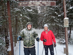 Chris and me (M.R.Kirk) Tags: sylvania outfittersskiingskixc ski watersmeet up