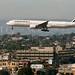 Air France Boeing 777-300ER lands at LAX