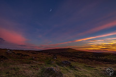 End Of Another Dartmoor Day (knk66) Tags: dartmoor night sky moon dusk devon d800 landscape