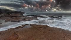 Cape Banks Sunrise (RoosterMan64) Tags: australia capebanks clouds dawn laparouse landscape longexposure nsw rockshelf seascape sunrise