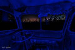 The bus... (lortopalt) Tags: ljusblåa lightpainting abandoned övergivna cars bilar nikon d850