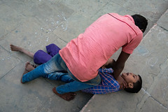 On the top (SaumalyaGhosh.com) Tags: people boy boys street streetphotography india fuji fujifilm xt2 color colour stairs