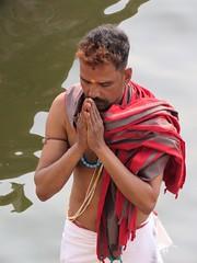 varanasi 2019 (gerben more) Tags: prayer man people portrait portret religion brahmin ganges ganga river varanasi benares india