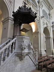 Pulpit, Église Saint-Polycarpe, Lyon, France (Paul McClure DC) Tags: lyon france july2017 auvergnerhônealpes architecture historic church sculpture lacroixrousse