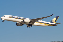 Singapore Airlines Airbus A350-941 cn 77 9V-SMI (Clément Alloing - CAphotography) Tags: singapore airlines airbus a350941 cn 77 9vsmi barcelona airport barcelone lebl bcn canon 100400 spotting aeropuerto airplane aircraft 25r 07l balcon t1 flight airways aeroplane engine sky ground take off landing 1d mark iv