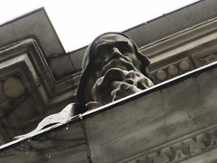 NY Public Library - Attic Allegorical Statue - History 2936 (Brechtbug) Tags: public library building statues across from 42nd street 5th ave new york city caryatid atlantid 2019 nyc 03032019 attic art architecture designed by artist sculptor paul wayland bartlett carved the piccirilli brothers was two lions six allegorical figures represent l r history romance religion poetry drama philosophy