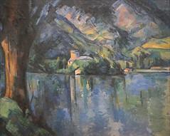Le lac d'Annecy de P. Cézanne (Fondation Vuitton, Paris) (dalbera) Tags: dalbera paris fondationvuitton courtauldgallery exposition impressionnisme france paulcézanne lac arbre