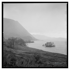 Crummock_Water_HP5-1 (D_M_J) Tags: crummock water lake district lakedistrict lakeland cumbria landscape north west film camera 120 medium format 6x6 square roll hasselblad 500 cm 80mm ilford hp5 plus 400 kodak hc110 epson v850 vuescan black white bw blackandwhite mono monochrome