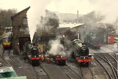 Midland scene (Jacobite52) Tags: haworth 78022 46521 lms 45596 bahamas worthvalleyrailway railway worthvalley kwvr train steam