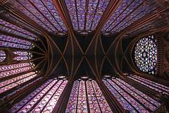 La Sainte Chapelle (Lawrence OP) Tags: saintechapelle paris stainedglass windows medieval rose reliquary louisix stlouis france fisheye
