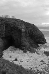 Cliffs,Collieston_Mar 19_521 (Alan Longmuir.) Tags: monochrome grampian aberdeenshire collieston cliffs