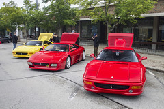 Trio (Hertj94 Photography) Tags: ferrari f355 348 coupe fuelfed coffee classics downtown winnetka illinois september 2018 canon t3