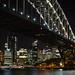 Night scene at the Sydney Harbour Bridge