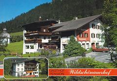 Postkarte / Österreich (micky the pixel) Tags: postkarte postcard ephemera österreich austria oberau wildschönau gebäude gasthof kitzbüheleralpen tirol bundeslandtirol