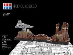 Lego Star Wars - Jedha Skyline MOC (Box) (BenBuildsLego) Tags: jedha rogue one star wars story micro microscale miniscale scale jyn erso krennic lego brick bricks legos moc cool instructions jedi destroyer empire imperial city benbuildslego