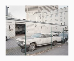 Cologne, 2019 (Darius Urbanek) Tags: 120 6x7 cologne germany kodak köln mamiya7 portra400 analog architecture brutalism color concrete film mediumformat decay car
