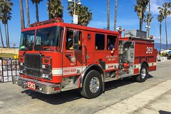 LAFD Engine 263 (RJACBclan) Tags: firetruck fireengine losangelesfiredepartment seagrave venicebeach lightforce63 taskforce63 pump263 engine263 lafd