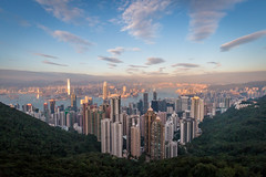 Hong Kong (Seb & Jen) Tags: hongkong asia asie island victoria peak sunset immeuble building