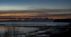 sunset over sadness (Sherry Landon-non stop creations) Tags: sunset sad sadness destroyed ocean pier sherry landon non stop creations white rock british columbia canada
