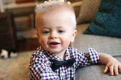 bow tie & dimples (d_rimbo) Tags: hci bowtie two 2yearsold christmas teeth one baby livingroom