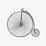 Penny farthing styled bicycle thumbnail