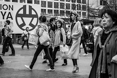 If She Asks Me How The Weather Is Up Here, She Gets Socked (burnt dirt) Tags: asian japan tokyo shibuya station streetphotography documentary candid portrait fujifilm xt1 bw blackandwhite laugh smile cute sexy latina young girl woman japanese korean thai dress skirt shorts jeans jacket leather pants boots heels stilettos bra stockings tights yogapants leggings couple lovers friends longhair shorthair ponytail cellphone glasses sunglasses blonde brunette redhead tattoo model train bus busstation metro city town downtown sidewalk pretty beautiful selfie fashion pregnant sweater people person costume cosplay boobs