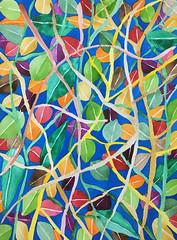 Watercolor Painting (Imara U.) Tags: watercolor watercolors aquarela pintura colorful colors color colorido cores cor nature natureza inspirations tropical finearts art arte artista artist abstract pattern patterns