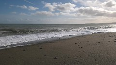 taking in the sea air... (CatMacBride) Tags: sea coast waves wicklow ireland sunshine cloud video blackditch