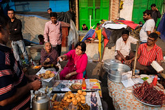 Food street (SaumalyaGhosh.com) Tags: food street streetphotography chinese india kolkata color people light morning warm streetfood gathering transaction exchange
