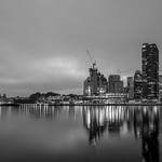 At this time of the morning I get to own Sydney - this view from Darling Island takes in the bridge through to Barangaroo towers thumbnail