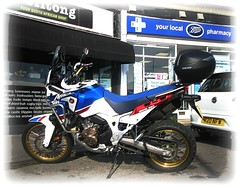 2018 Honda Africa Twin Adventure Sports (John(cardwellpix)) Tags: sunday 24th february 2019 motorbike guildford surrey 2018 honda africa twin adventure sports